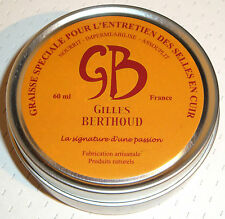 *NEW* GILLES BERTHOUD WAX GREASE FOR LEATHER SADDLE FRANCE BROOKS IDEALE