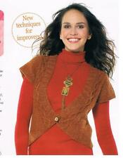 AGE OF THE INCAS Sarah Hatton knitting pattern from magazine - cable cardigan