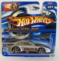 2006 Hotwheels Ferrari 575 GTC Silver Short Card! SC! Very Rare! Mint!
