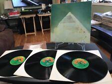 GLASTONBURY FAYRE 3 Album Set W Booklet Grateful Dead David Bowie Revelations Lp