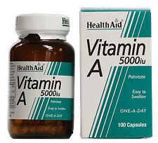HEALTH AID VITAMIN A 5000IU- 100 CAPSULES