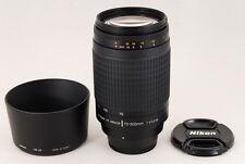 Nikon AF Nikkor 70-300mm F4-5.6G Zoom Lens w/Hood Excellent from Japan (NK70)