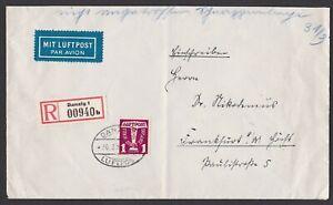 Germany. Danzig. 1939 Luftpost Cover to Frankfurt.