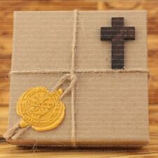 3.6 cm Small Olive Wood Crosses 50 Pieces in Paper Craft Box Gift Version Art