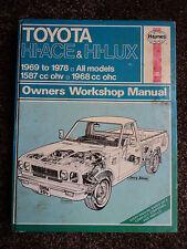 Toyota Hi-Ace & Hi-Lux Haynes Manual  FREE POSTAGE