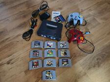 Nintendo 64 Spielekonsole - Schwarz plus 2 Controller und 10 Spiele