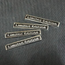 4x Black Chrome Metal LIMITED EDITION Badge Sticker Emblem Luxury coupe 3D Motor