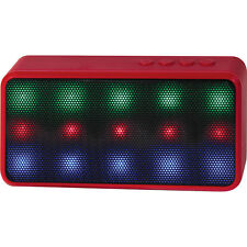 Lyrix Prysm Wireless Bluetooth Speaker with Dazzling LED Lights - Red