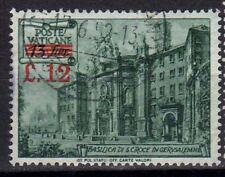Vaticano 1952 Basiliche Soprastampato dent. 14 USATO (089)