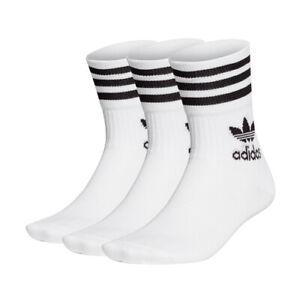 adidas Originals TREFOIL MID CUT CREW SOCK Socken 3PACK white NEU