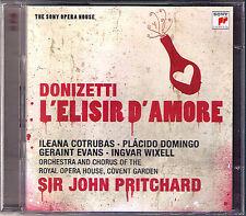 DONIZETTI: L'ELISIR D'AMORE Domingo Cotrubas Wixell 2CD John Pritchard Watson