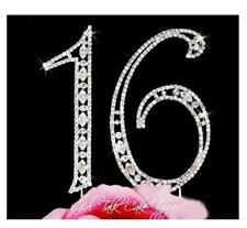 Sweet 16 Rhinestone Birthday Cake Topper Sixteen Numbers Bling Cake Decoration
