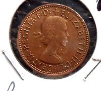 CIRCULATED, XF IN GRADE, 1967 1/2 PENNY UK COIN (22615)