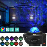 LED Galaxy Star Projector Night Lamp Starry Sky Night Light Ocean Wave Remote