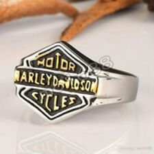 Harley Davidson Womens Stainless Steel Ring Size 8