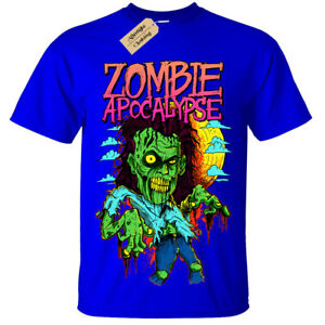 Kids Boys Girls Zombie Apocalypse Lion T-Shirt