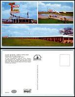 CALIFORNIA Postcard - Tulare - Tulare Inn Motel - Perry's Coffee Shop F35