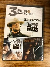 3 Film Collection Outlaw Josey Wales Pale Rider Unforgiven Dvd Clint Eastwood