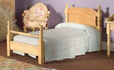 Dolls House Emporium Miniature 1/12th Scale Victorian Pine Wood Single Bed 2566