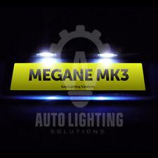 For Renault Megane MK3 2008-2014 Xenon White LED Number Plate Light Bulbs *SALE*