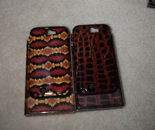 NEW LOT OF 2 Samsung Note 2 n7100 hybrid hard case skin cover snap on