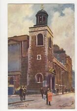 St Catherine Cree Leadenhall Street London Charles Flower Tuck Postcard 704a
