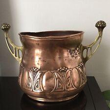 Rare Énorme Cache Pot Signé WMF Cuivre Bronze ART NOUVEAU Circa 1900 Jugendstil