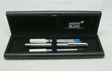 Mont Blanc The Art of Writing sliver Ballpoint Pen with 3 replacement w/box