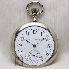 1905 HAMPDEN Mechanical Pocket Watch 12s White Dial Antique USA Grade 302 7j