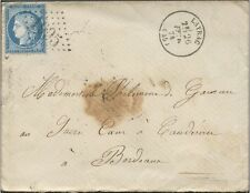 1874 Lettre LOT ET GARONNE 45 / LAYRAC + FRANCE N°60 obl GC 1995  Indice 5