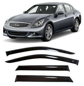 For Infiniti G (V36) Sd 2006-2014 Window Visors Sun Rain Guard Vent Deflectors
