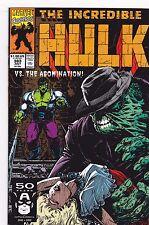 INCREDIBLE HULK #383 / ABOMINATION / P DAVID / DALE KEOWN / MARVEL COMICS / 1991
