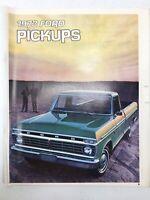 Vintage 1973 Ford Pickups Trucks Sales Brochure Ranger Bronco Ranger Ranchero