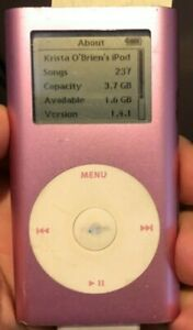 iPod Mini 2nd Gen Pink (4GB) A1051 Good Used Fast Ship 237 Songs Classical PLUG
