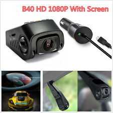 B40 Capacitor Car Dash Camera DVR HD 1080P Vehicle Video Recorder Cam G-Sensor