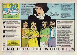 Pop Idols by Stan Drake - ABBA - full page Sunday comic - October 7, 1979