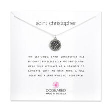 """Dogeared Saint Christopher Travelers Necklace Sterling Silver 16""""-18"""" Necklace"""