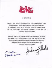 Arthur Lee & Love signed lyrics by band members only