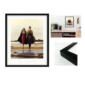 Jack Vettriano Framed Art Print Picture 11 Designs Large Black Frame 50x40cm
