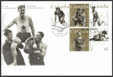 1996 -FDC - Canada #1608 up to 1612 Canadian Olympic Gold Medallists  ( New )