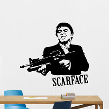 Scarface Wall Vinyl Decal Al Pacino Mafia Movies Sticker Art Decor Mural 126zzz