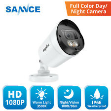 SANNCE 1080P HD Full Color Security Warm Light Camera for Security CCTV System