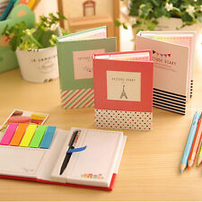 Sticker Post It Notepad Marker Memo Flags Sticky Notes Book With Pen  JU