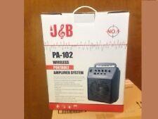 J&B PA-102 wireless portable amplifier system