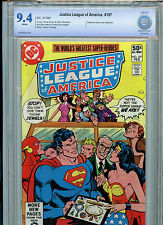 Justice League of America #187 DC Comics JLA CBCS Graded 9.4 NM 1981
