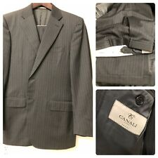 Recent Canali 1934 Men's Two Piece Suit 40R Flat Front Pants