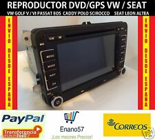 Bluetooth CD/DVD/GPS -7 pulgadas- VolksWagen Golf Passat Seat Leon Altea VW
