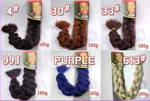 """New One 41"""" Silk  Braids Twist Synthetic Hair Extension 165g"""
