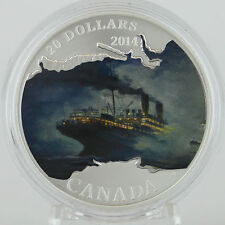 2014 $20 RMS Empress of Ireland Lost Ships 1 oz Silver Serial# 1914 Year it Sank