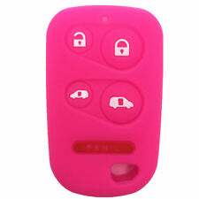 Rose Rubber Key Fob Case Cover Keyless Remote fit for Honda S737